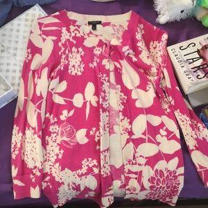 Flower print dress sweater